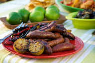 Marinating the chorizo in a dark Mexican beer renders the meat more delicate and adds a great malty flavor. Add it to any entree or eat it alone - so delicious!