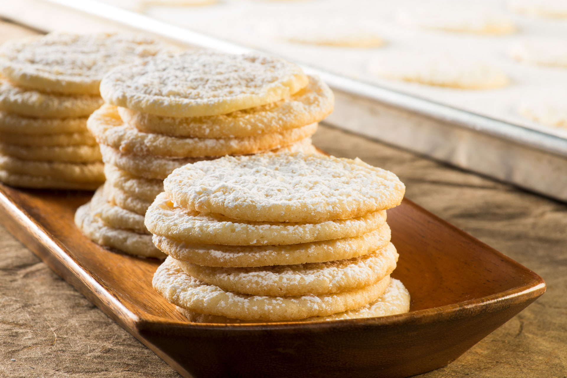 Norwegian Butter Cookies on a plate