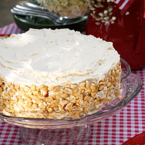 Here's a cake that's a treasured family recipe, passed down for years from a very special woman, Grandma Bev.