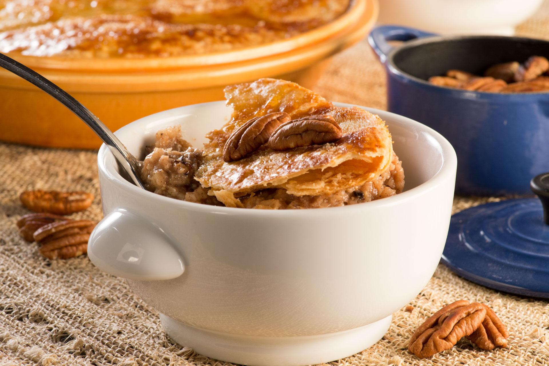Here's an easy way to take breakfast with you, or enjoy it at home. It's the perfect mix of sweet and savory with a lot of health thrown in! If you love oatmeal, and you love pecan pie, you'll LOVE this!