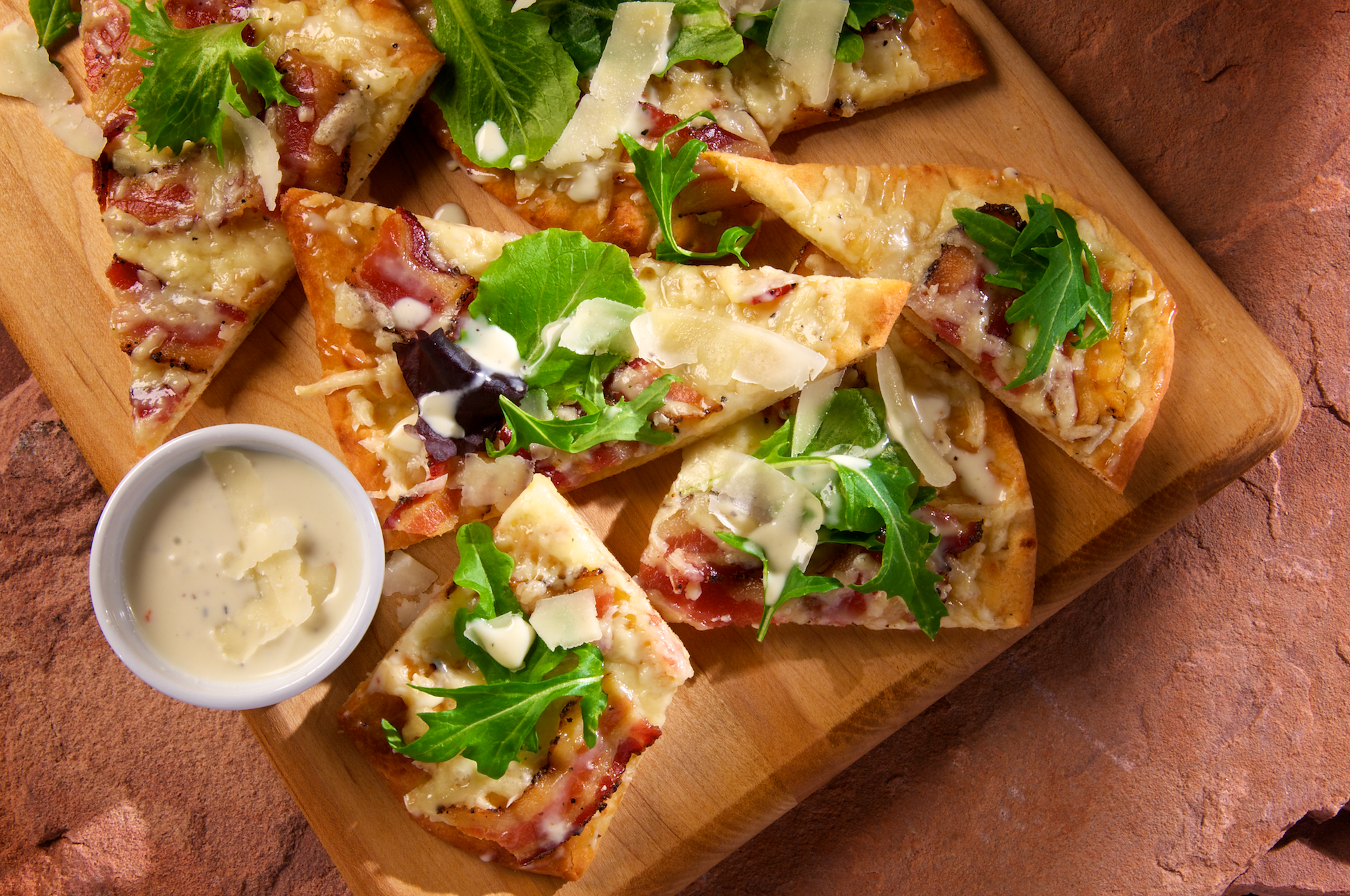 Peppered Bacon Flatbread Pizza