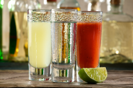 This bright red Mexican-style cocktail has a spicy kick to it. To celebrate Mexico's Independence Day, September 16th. Consider serving it alongside a shot of tequila and lime juice to mirror the colors of the Mexican flag!
