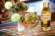 A shrimp cocktail with a spicy Mexican twist, made with fresh ingredients such as avocados, onions, and jalapenos! This dish is a fiesta for the senses.