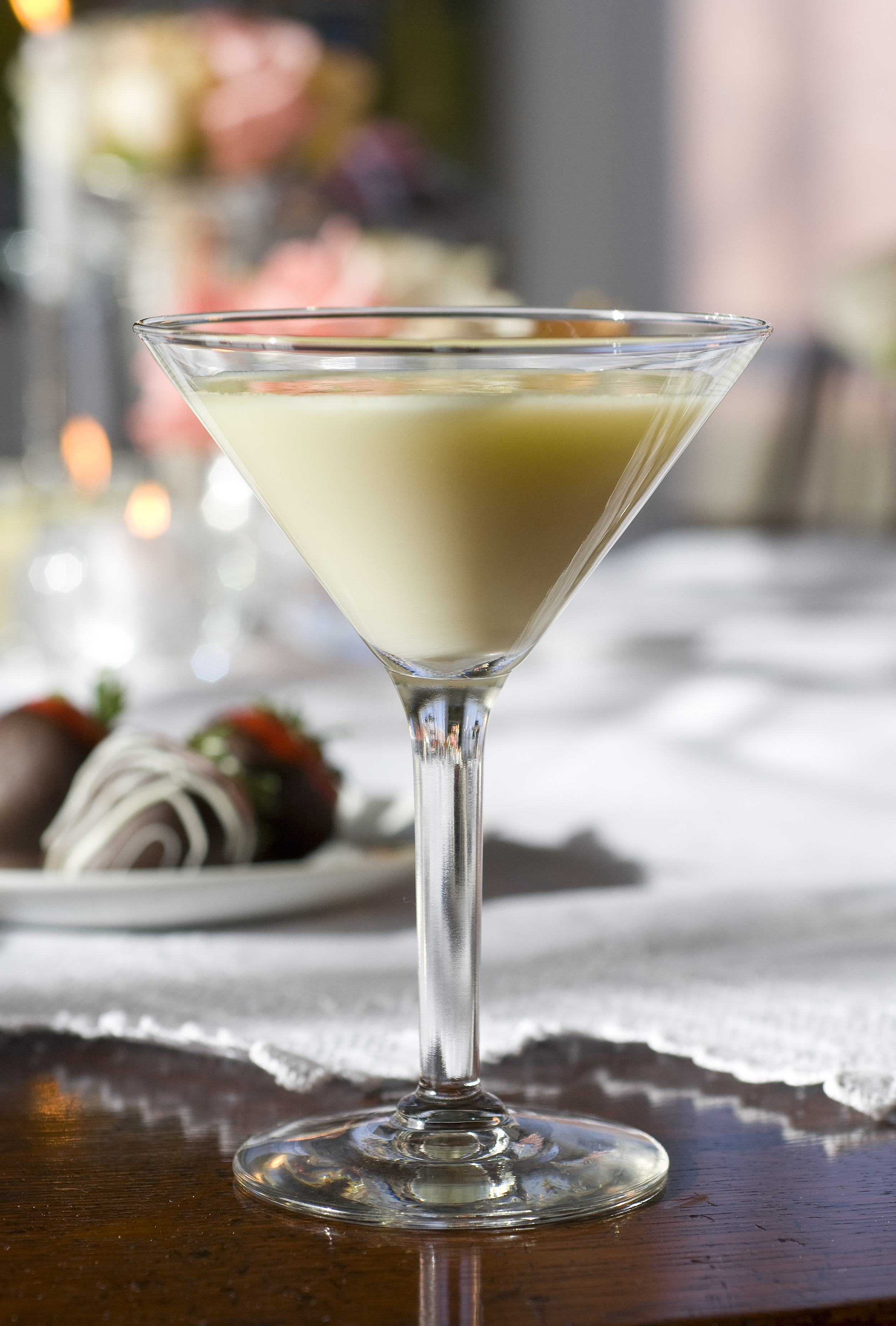 Decadent, rich, over the top, dangerously delicious! Rich velvety white chocolate concocted into a sinful cocktail. Chocolate lovers will swoon over this incredible cocktail. Perfect as a romantic before-dinner drink.