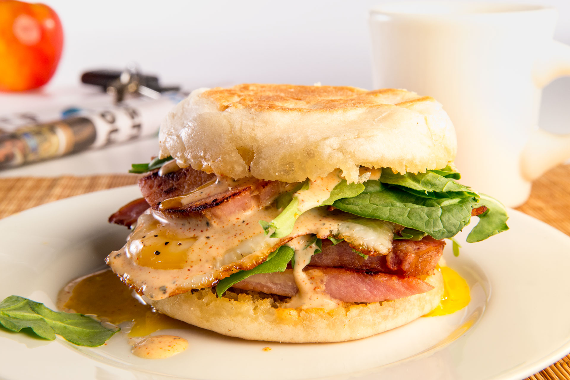 Everything you love about the indulgent flavor of an Eggs Benedict sandwich for a weekend brunch can be easily translated into a breakfast sensation!