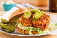 A delicious Nashville-inspired Spicy Fried Chicken Sandwich that has moved far beyond Nashville, popping up on menus across the country, and quickly becoming one of the hottest food trends.