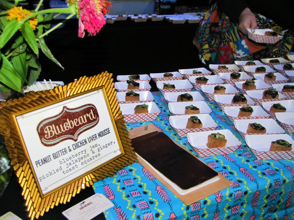 peanut butter and chicken liver mousse created by Bluebeard, a restaurant participating in the Baby Got Brunch event