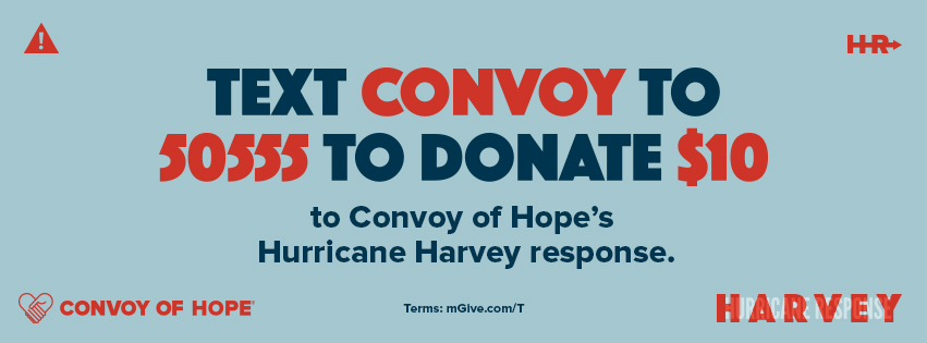 photo of the donation page from Convoy of Hope