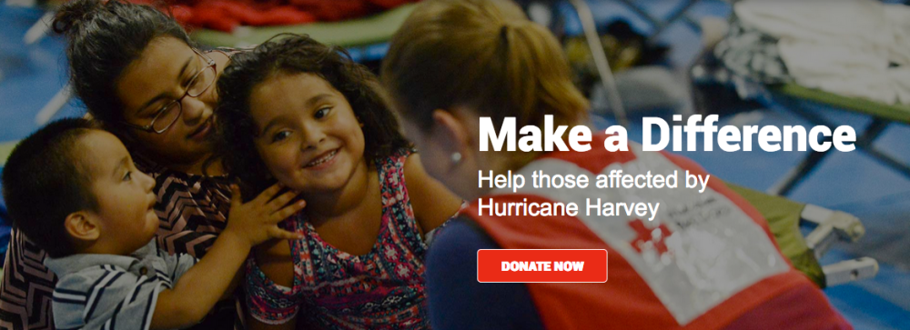 photo of the donation page for the American Red Cross