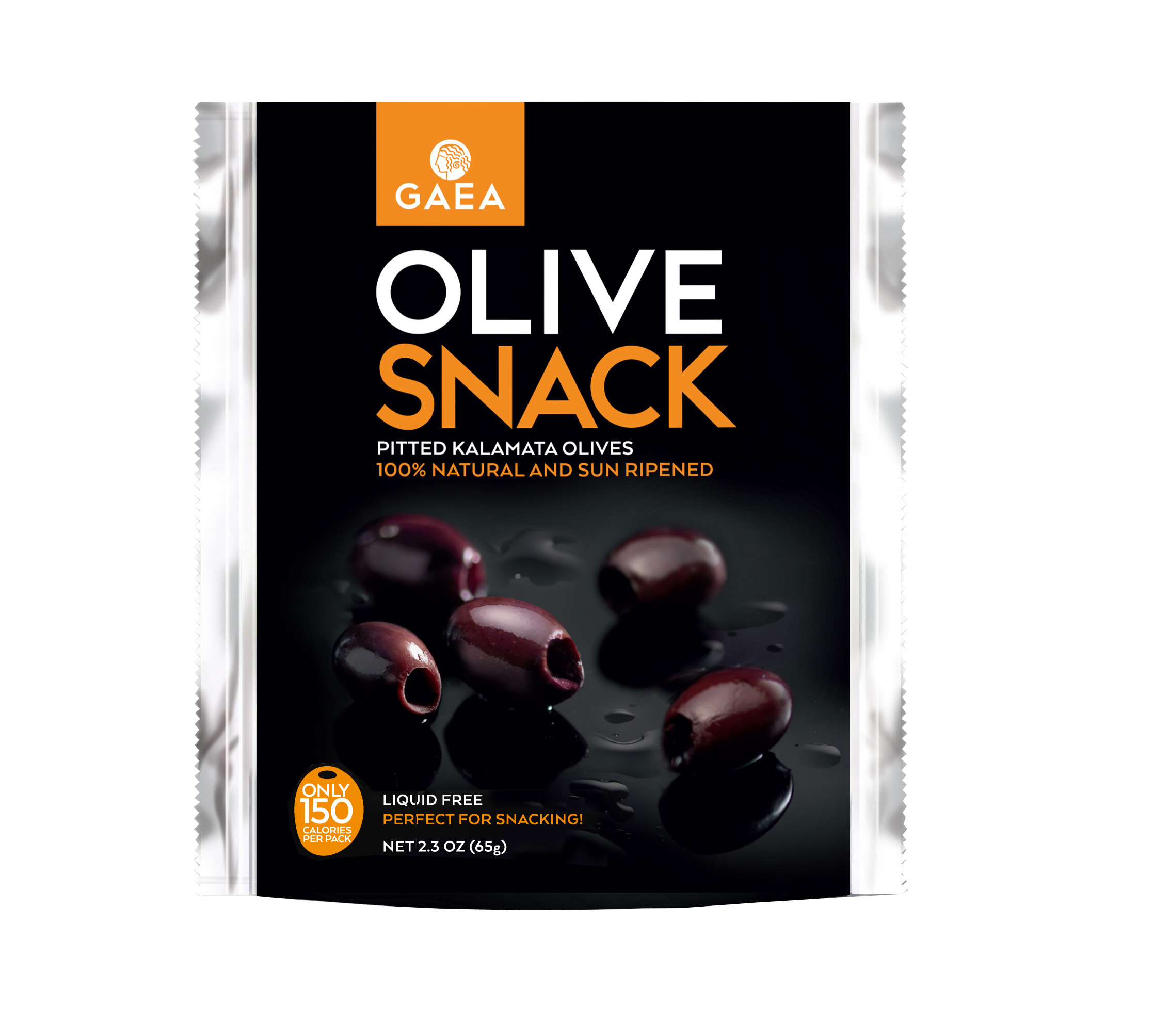 GAEA OLIVE SNACK//65g//PITTED KALAMATA
