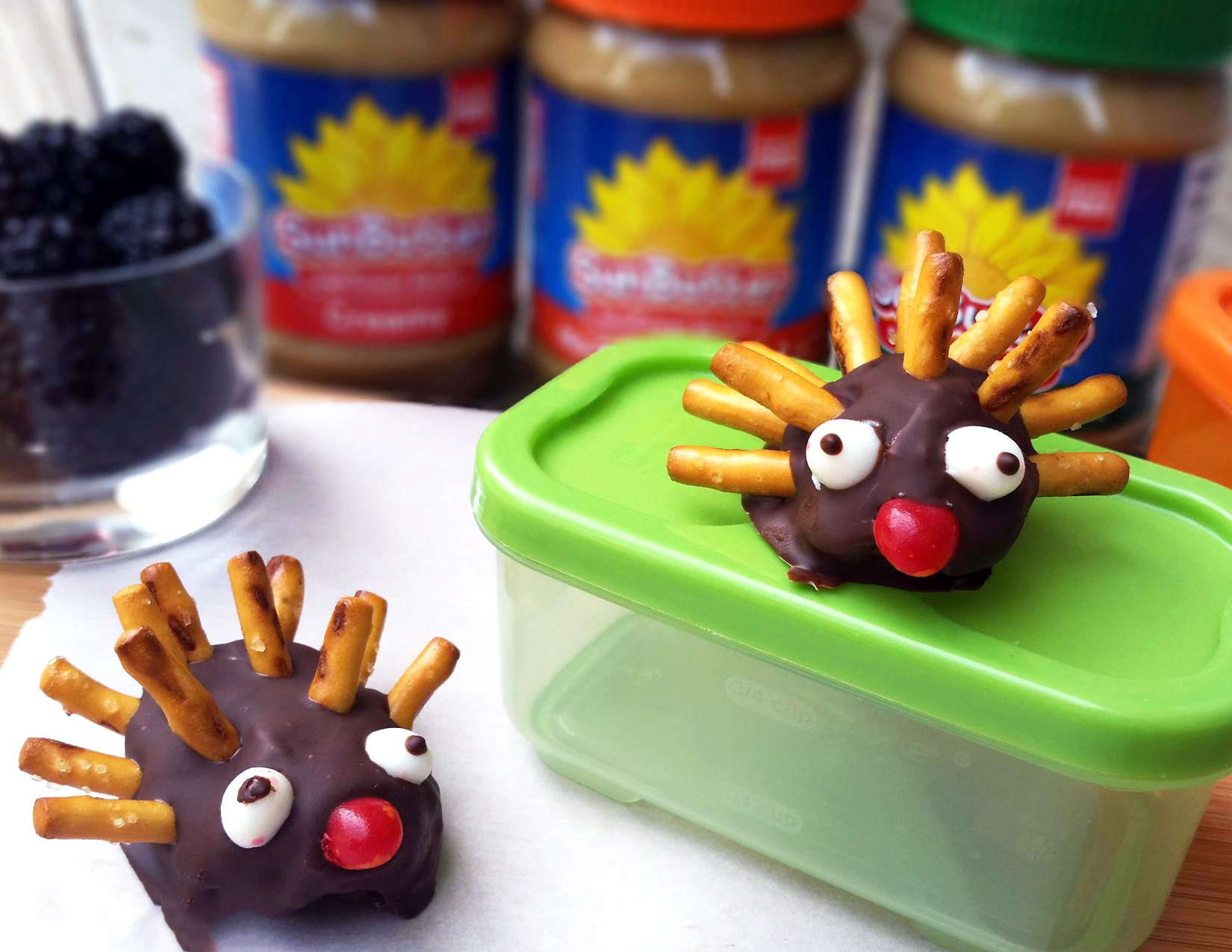 From Guest Contributor Tracy Bush, this adorable recipe fits perfectly into lunch boxes or can be made as a fun treat for any time of the day. Go on, let the kid in you come out and play!