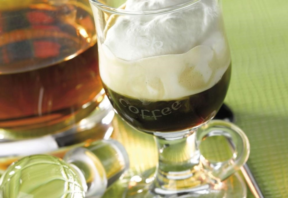 Irish Coffee has remained a popular warm and welcoming beverage since 1942 when it became the official welcoming beverage at The Shannon International Airport. Today, it can be commonly found in most places that serve alcoholic beverages.