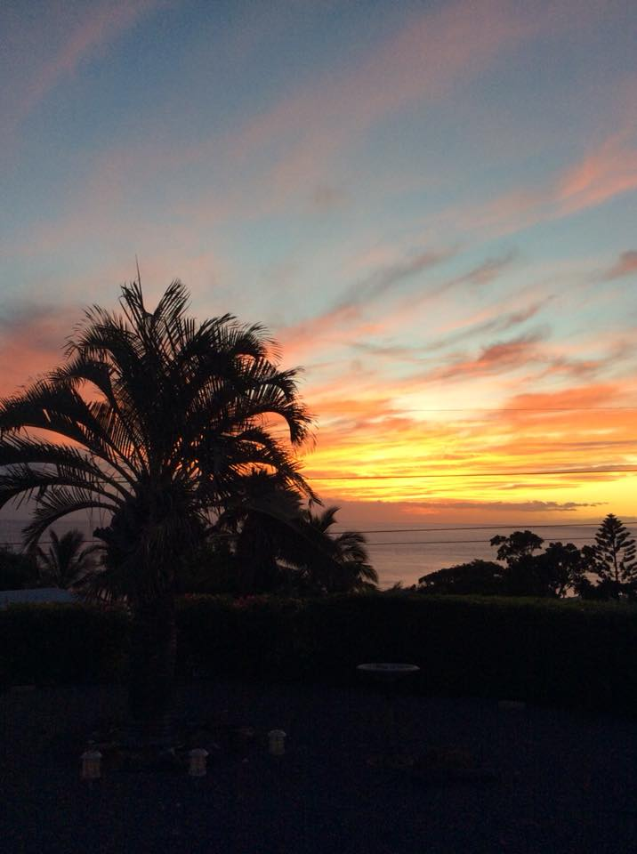 A photo taken by Tish Rockwood from her back porch in Honolulu, Hawaii.