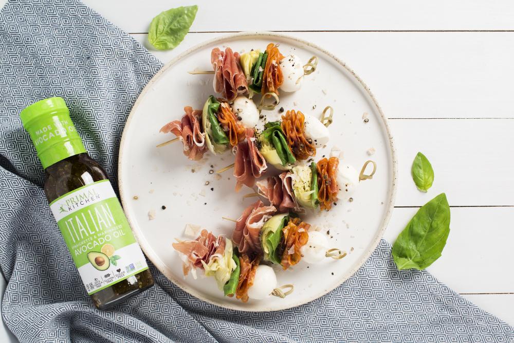Italian Antipasto Skewers courtesy of Primal Kitchen