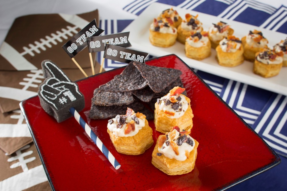 Kick off your game day party with these mini clam chowder cups. They're a delicious and fun way for New England fans to celebrate their team devotion.