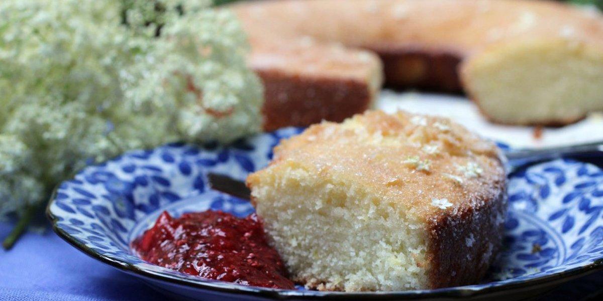 To make your own elderflower cake,check out this Elderflower Lemon Cake recipecreation from Ann Lenhardt.