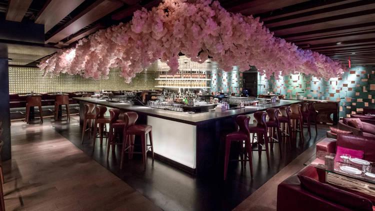 Zuma New York Cherry Blossom Installation//Zuma New York