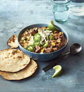 From the cookbook, Stock the Crock by Phyllis Good, thesalsa verde in this recipe sets this Pork Salsa Stew dish apart. It gives the pork a great flavor boost without overwhelming.