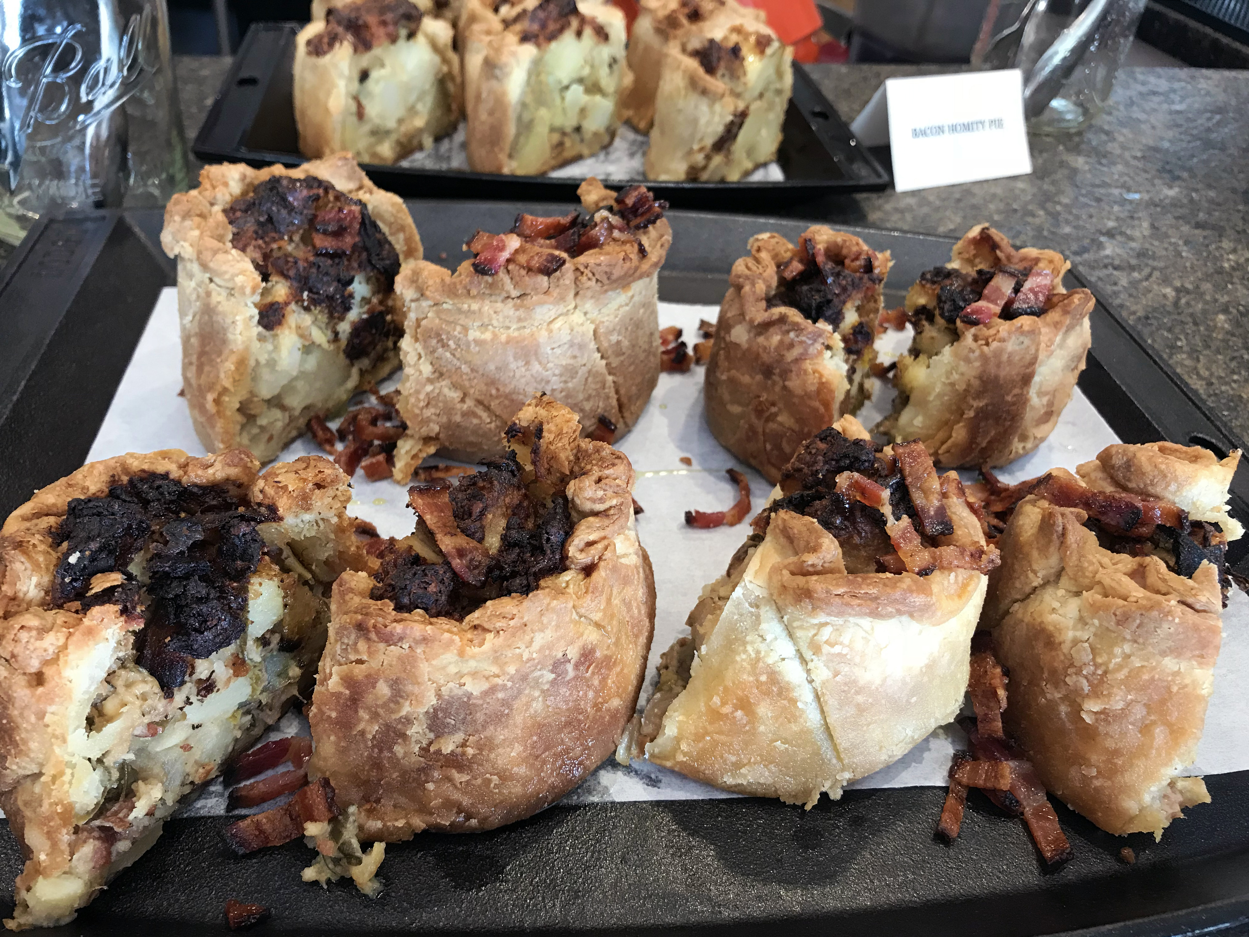 English-influenced hommity pies served at Cornman Farms.