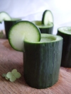 Refreshing, semi-sweet, shots served in a hollowed out, fresh, cucumber!
