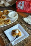 How to prepare a pre-made pierogi on the grill, served with sour cream and applesauce