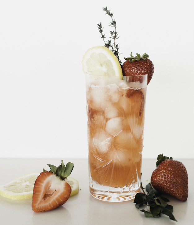 Strawberry moon cocktail made with Magnus Highland Park Scotch Whiskey.