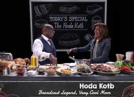 "Al Roker interviews Hoda Kotb on ""Cold Cuts."""