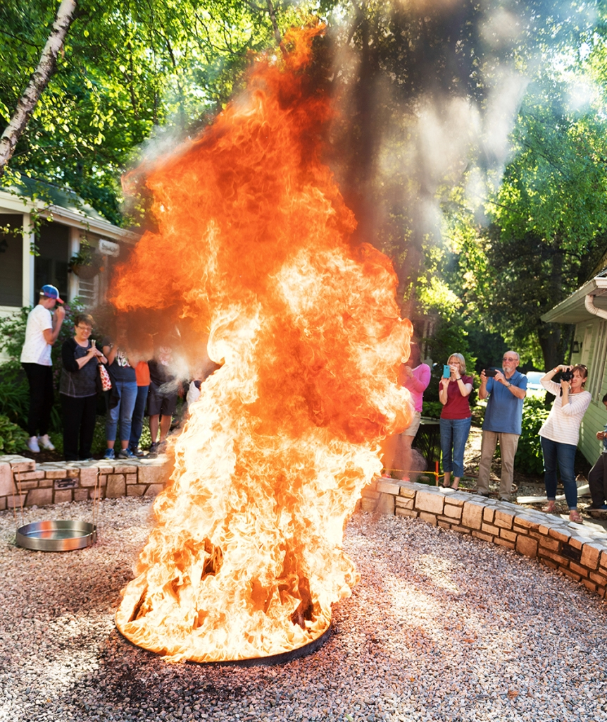 The Traditional Door County Fish Boil is combination of storytelling, cooking, and fire show, ending with a dinner of boiled whitefish, potato, and onion.