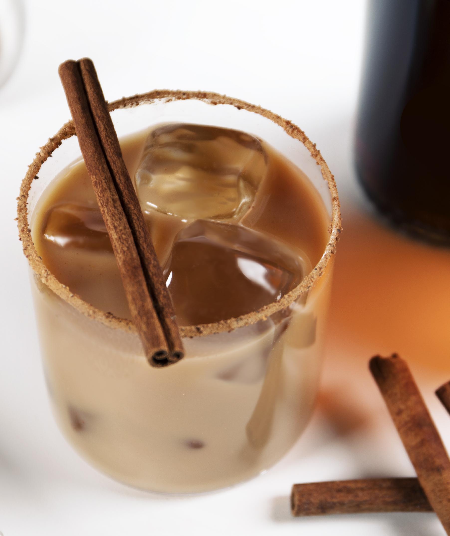 The Cara Mia is a blend of Dutch-caramel vodka, double-espresso vodka, cream and real espresso.