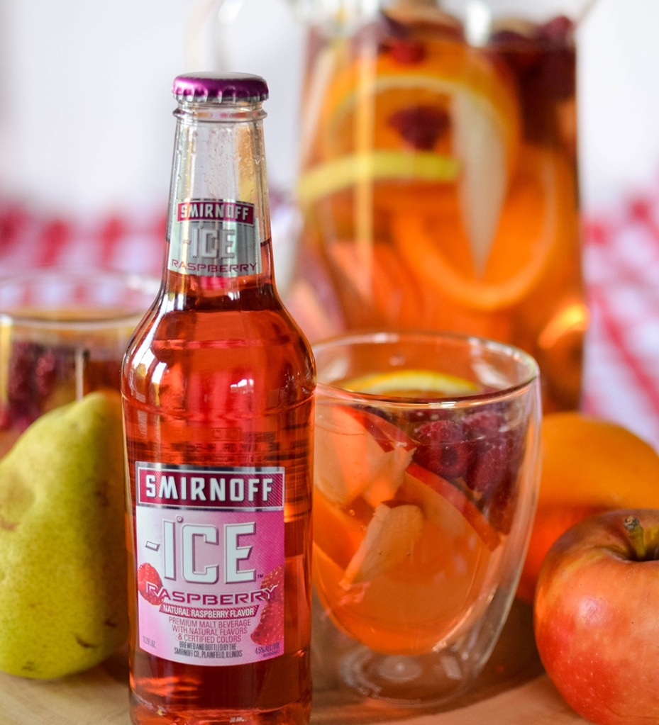 Fall Sangria made with Smirnoff Ice.