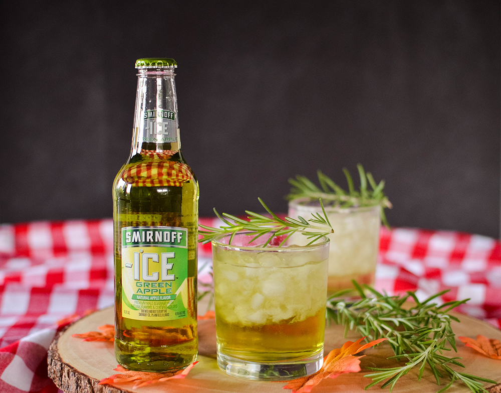 The green apple spice made with Smirnoff Ice.