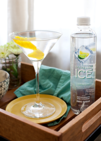In a mixing glass, combine vodka and dry vermouth. Strain into a chilled martini glass and top with Lemon Lime Sparkling Ice. Garnish with a orange twist and serve.