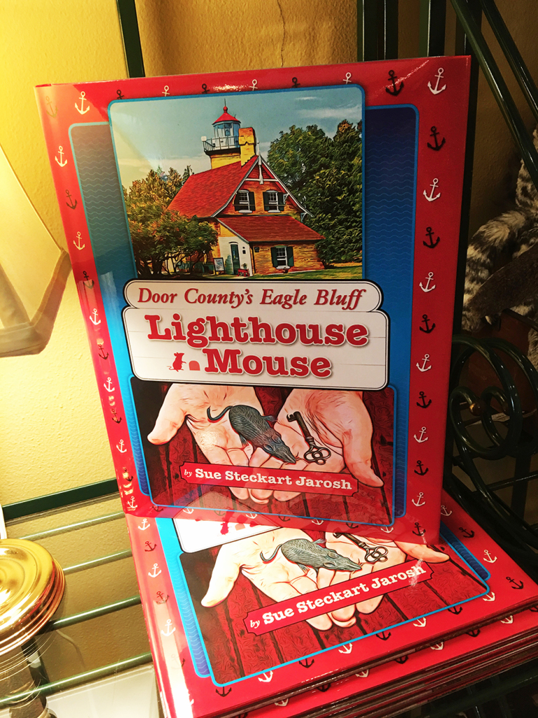 Door County's Eagle Bluff Lighthouse Mouse is historic fiction for children, walking them through illustrated highlights of a young boy who grew up as part of a lighthouse family. She has a second book out, as well—helping carry on the heritage of those who live in and love Door County.