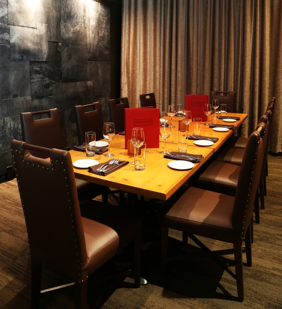 The private dining room at Michael Jordan's Steak House in Connecticut.