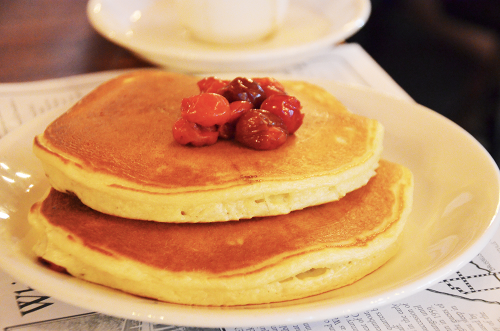 Depending on the time of year, you can also get cherry pancakes, oatmeal with cherries, cherry coffeecake, and duck with Door County cherry port wine sauce.