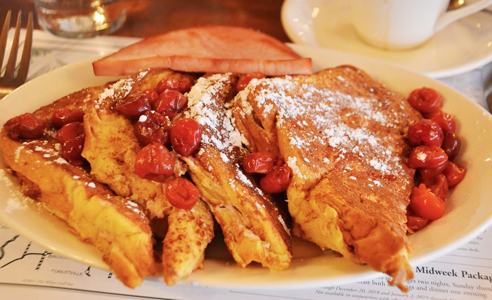 This recipe for Cherry-Stuffed French Toast is from The White Gull Inn Centennial Cookbook by owners Andy and Jan Coulson.
