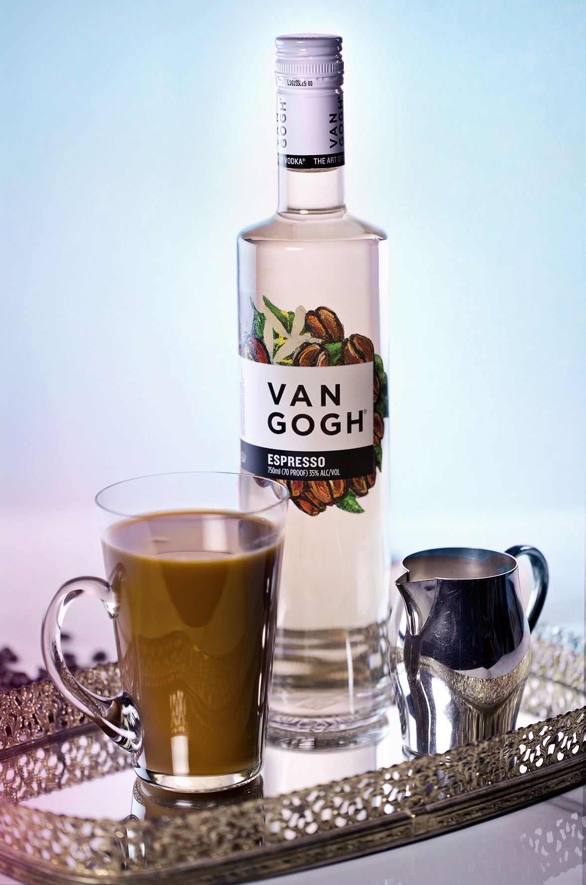 Dutch spiked coffee is a blend of espresso vodka, hot coffee and milk.