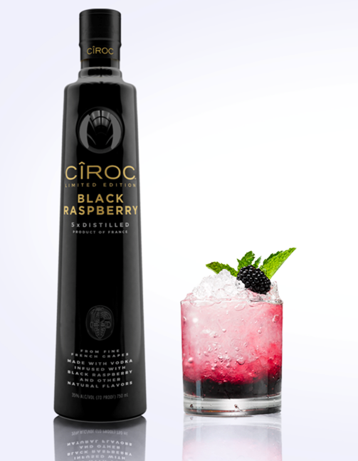 Not only the perfect mix and mask of flavors, but doubles as a great centerpiece for your Halloween event. Mixed with lime juice, simple syrup and blackberries, it's wickedly delicious.
