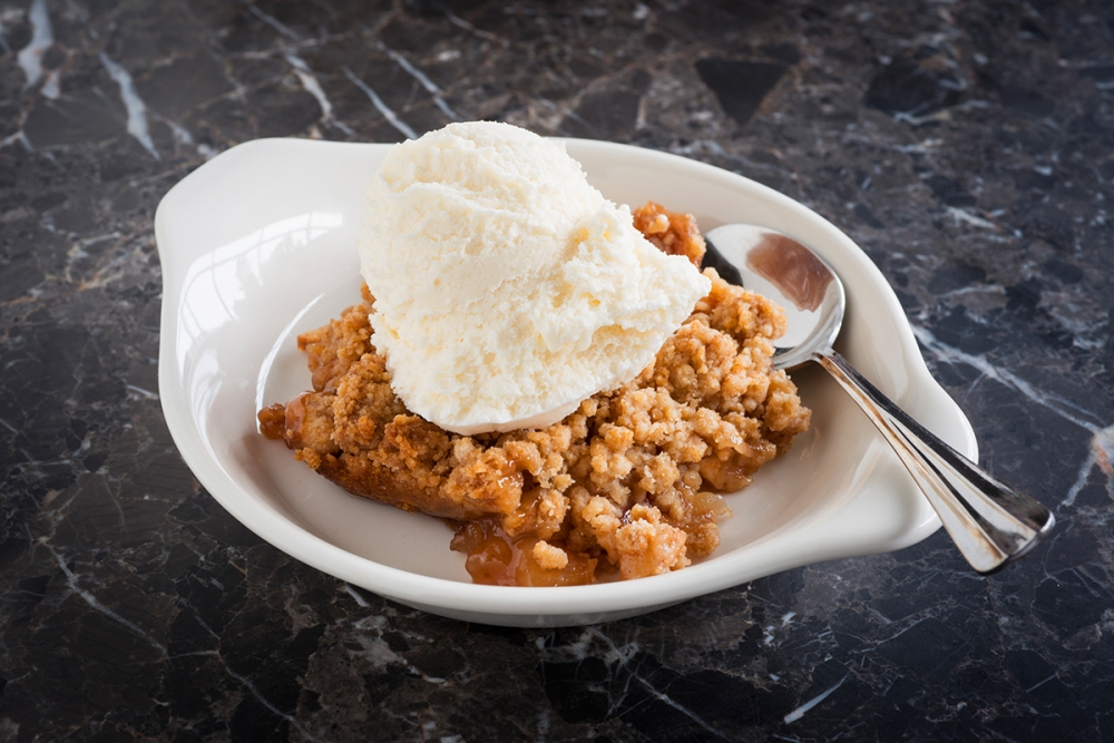 This Honey Apple Crisp is great served hot or cold, and it feeds a crowd (or gives you plenty for second day leftovers). Dress it up with ice cream and sprinkled nuts, or eat it as is—you'll see why Hannah can't stop thinking about it!
