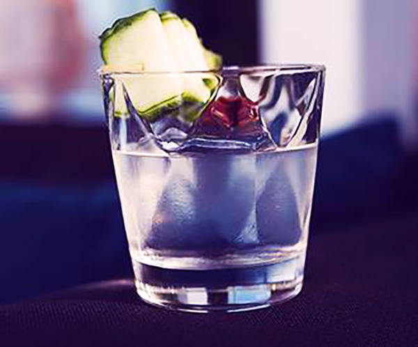 The concubine is made with Purity vodka, cucumber water, simple syrup and pastis.