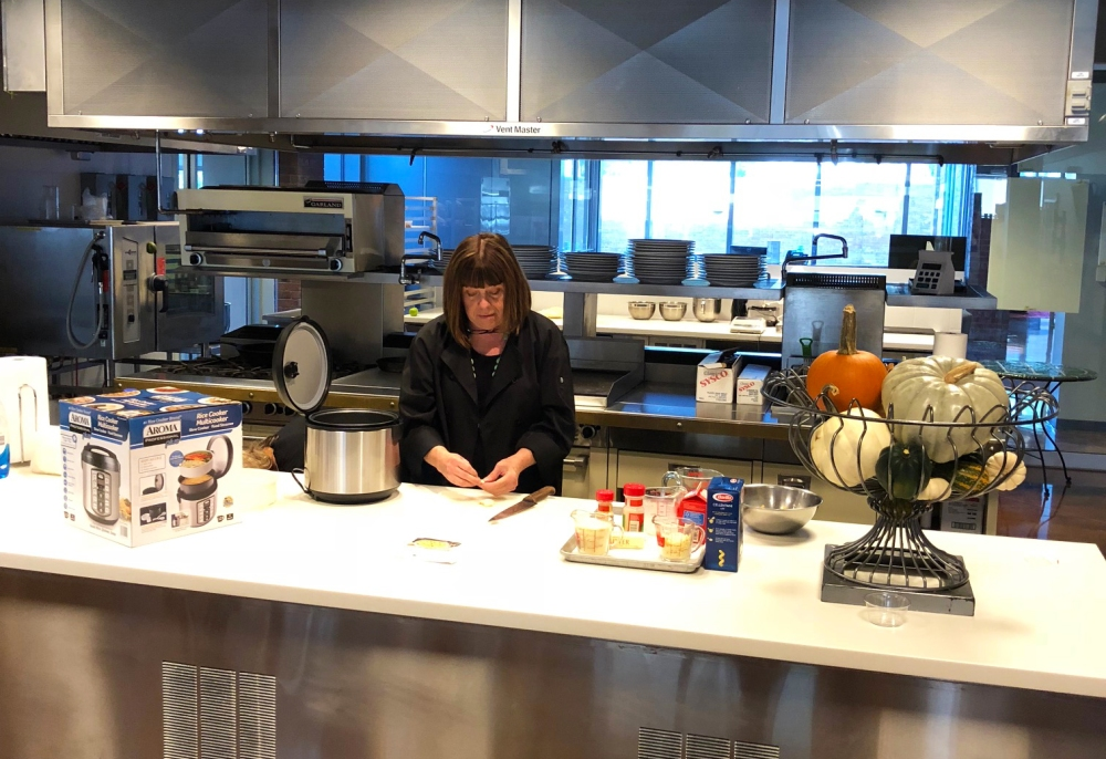 Executive Chef Gail Cunningham Preps The Ingredients.