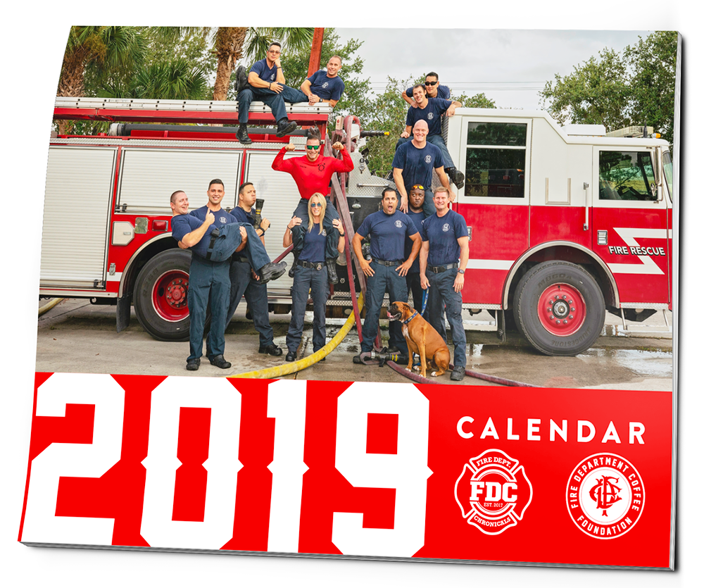 This calendar features first responders, offering a humorous look at the lives of first responders with one hundred percent of proceeds going to help first responders in need.