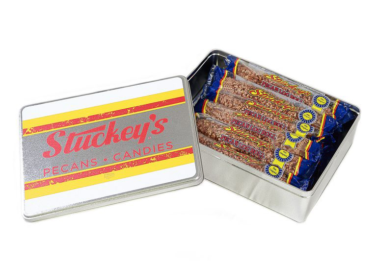 While traveling the highways, we never missed stopping at a Stucky's Pecan Store. My father loved the pecan logs, and I've found they have quite the fan base. If you're looking for a nostalgic foodie gift, you can buy commemorative tins from Stucky's online.