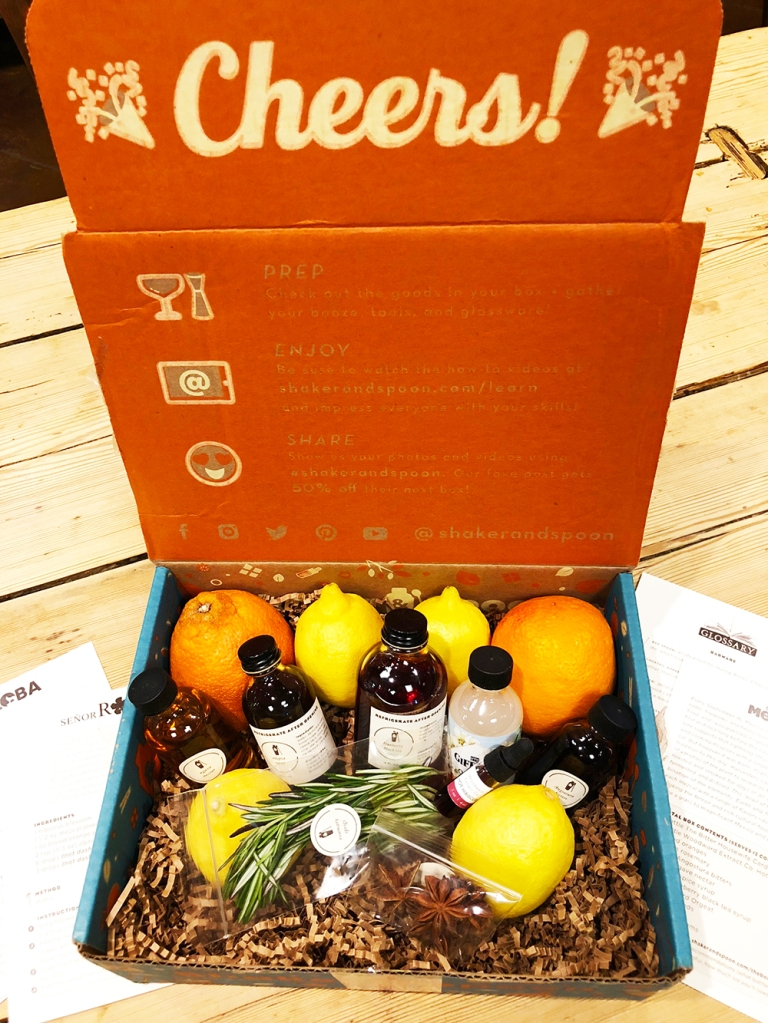 This monthly mixology subscription box is deliver to your home with all the ingredients needed to prepare four recipes, that are included, around one variety of alcohol.