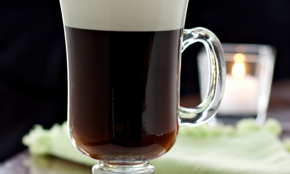 This classic Irish coffee stays true to the original recipe first served at the Shannon International Airport in Ireland to warm passengers on a delayed flight.