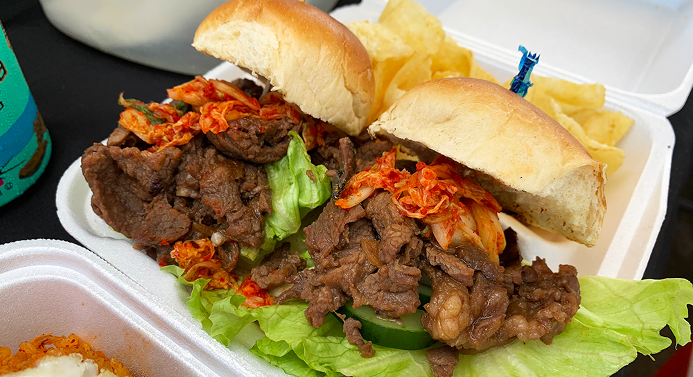 "Small aside: Two of our team had never tried bulgogi, which made the rest of us sad. As we discussed this in front of a Korean BBQ stand, the operator overheard one of us say, ""You have to taste bulgogi. I don't care if it's not lunch time. I'm buying some."""