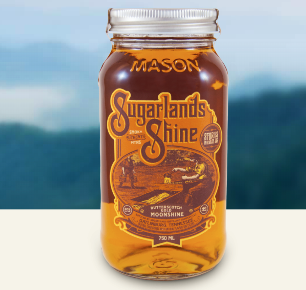 Sugarlands Butterscotch Gold Moonshine.