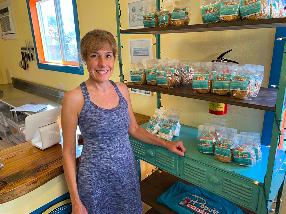 Erin, from Popo's Cookies from the Hanapepe walking tour in Kaua'i Hawaii.
