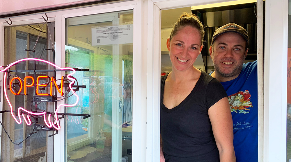 Seth and Paulette Peterson own and operate Kickshaw's, one of the island's most popular food trucks.