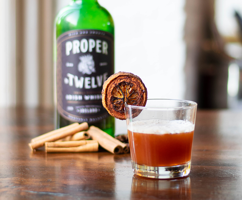 The knock out cocktail made with proper twelve Irish whiskey.